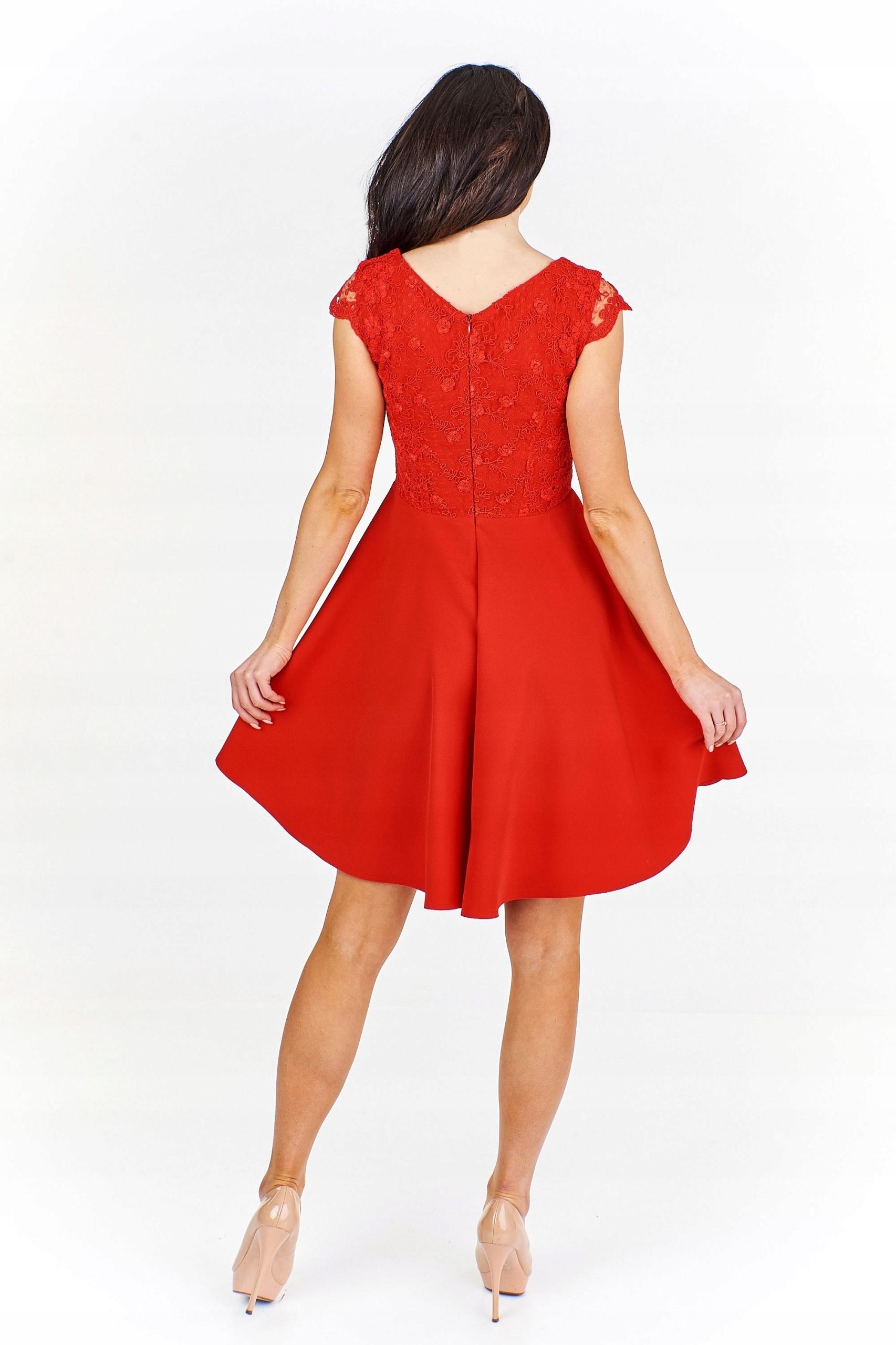 21a395fbd9 Sukienka z koronkowym gorsetem 38 Czerwony - 7514689819 - oficjalne ...