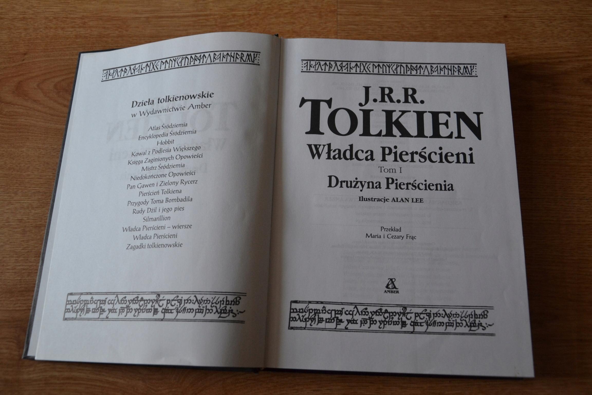 Tolkien Władca Pierścieni I Drużyna Pierścienia