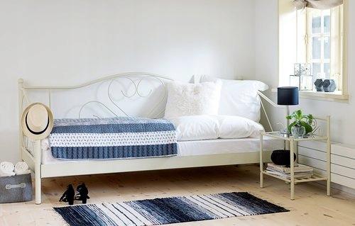 łóżko Metalowe Jednoosobowe Jysk 200x90 7645006349