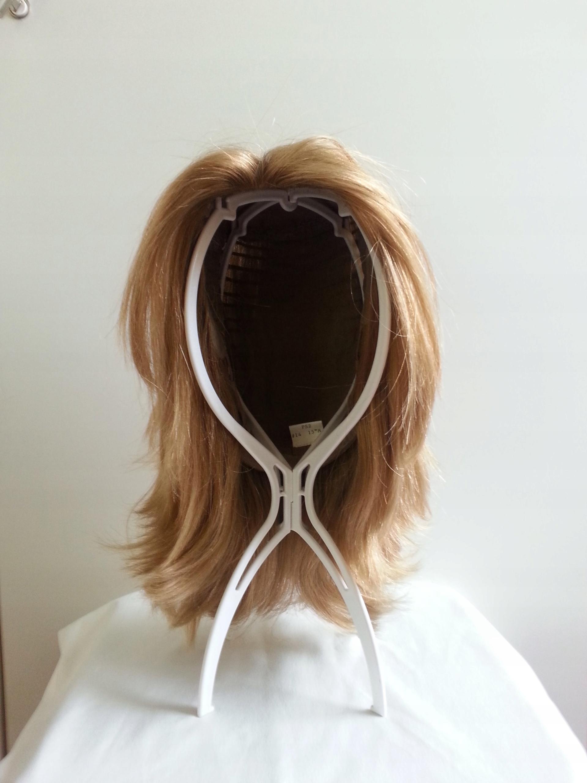 Peruka Prawdziwe Włosy Jasny Blond Do Ramion 7457852446