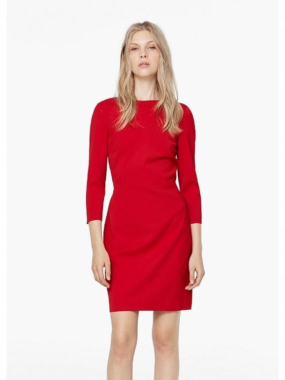 512a3215ed Sukienka Mango czerwona rozm. S - 7458683736 - oficjalne archiwum ...