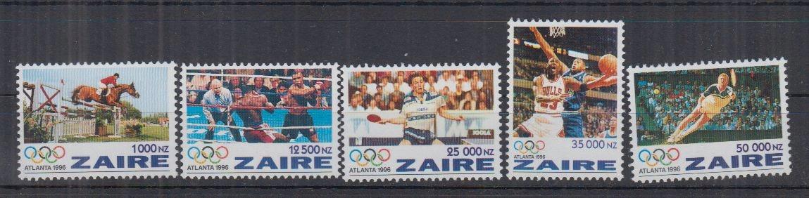 J28. MNH Zaire Sport Igrzyska Olimpijskie