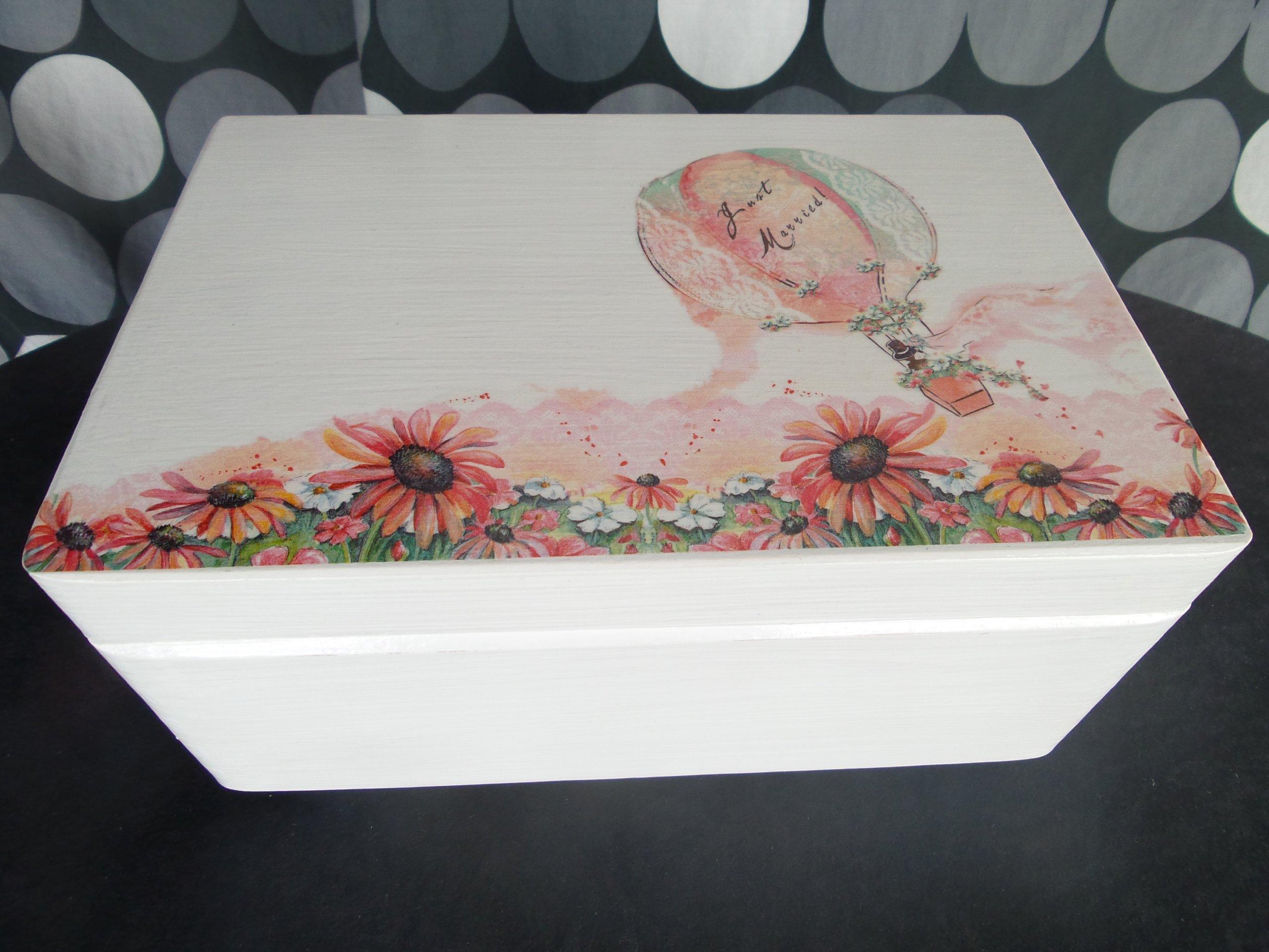 Skrzynka Pudełko na koperty Ślubne Ślub Wesele