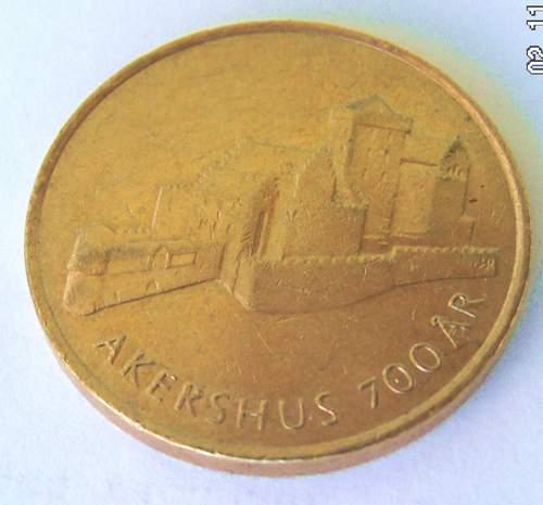 NORWEGIA 20 Koron 700 lat Zamku Akershus 1999