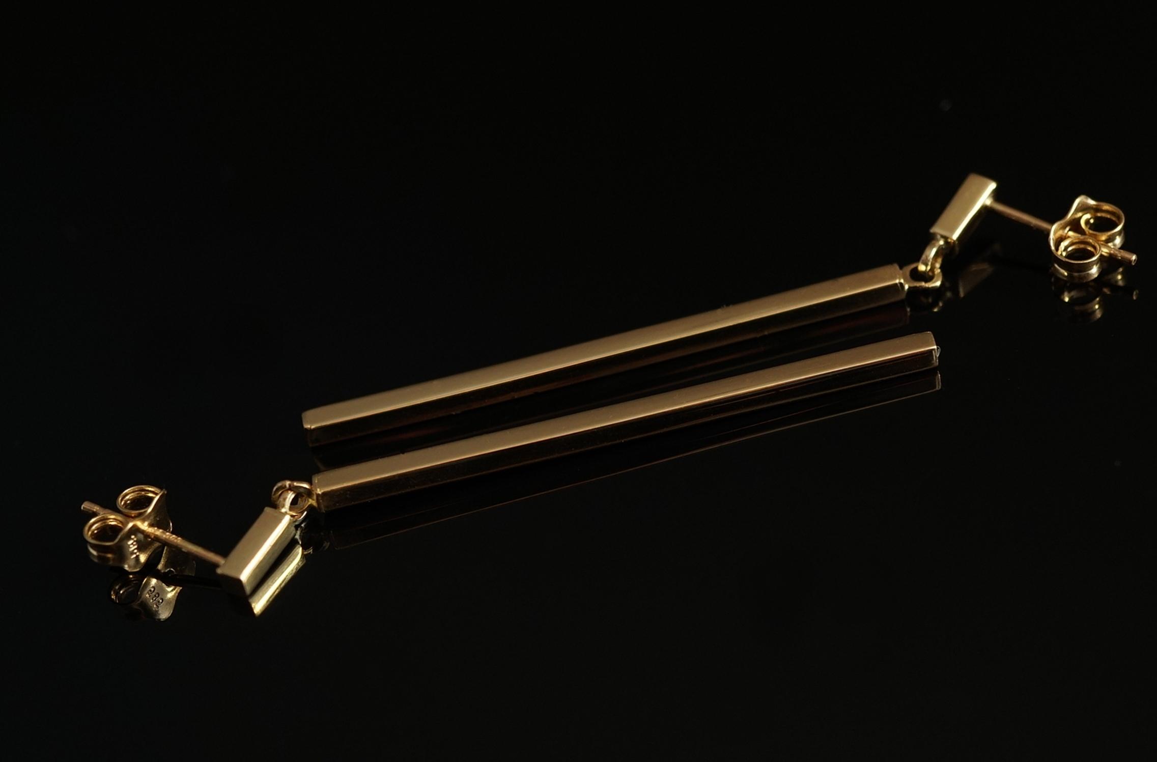 5f0b337d984f Złoto 585 - złote kolczyki długie wiszące. - 7535601694 - oficjalne ...
