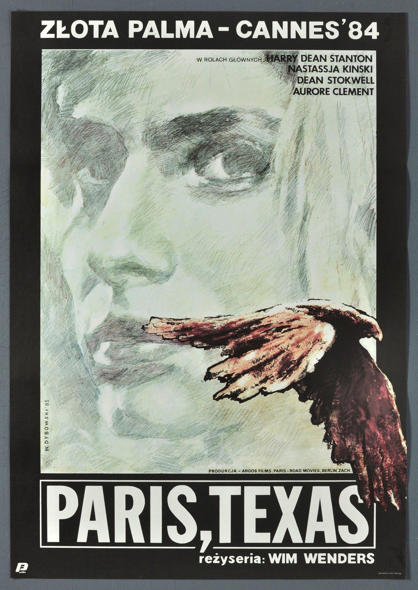 Plakat Kinowy Prl Paris Texas Wim Wenders