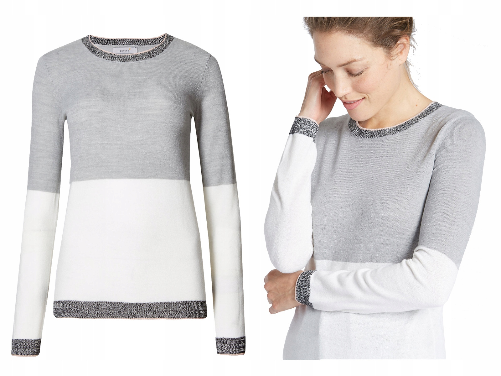 fc307a3048c586 Sweter sweterek cienki jesień MARKS SPENCER1688 44 - 6952224148 ...