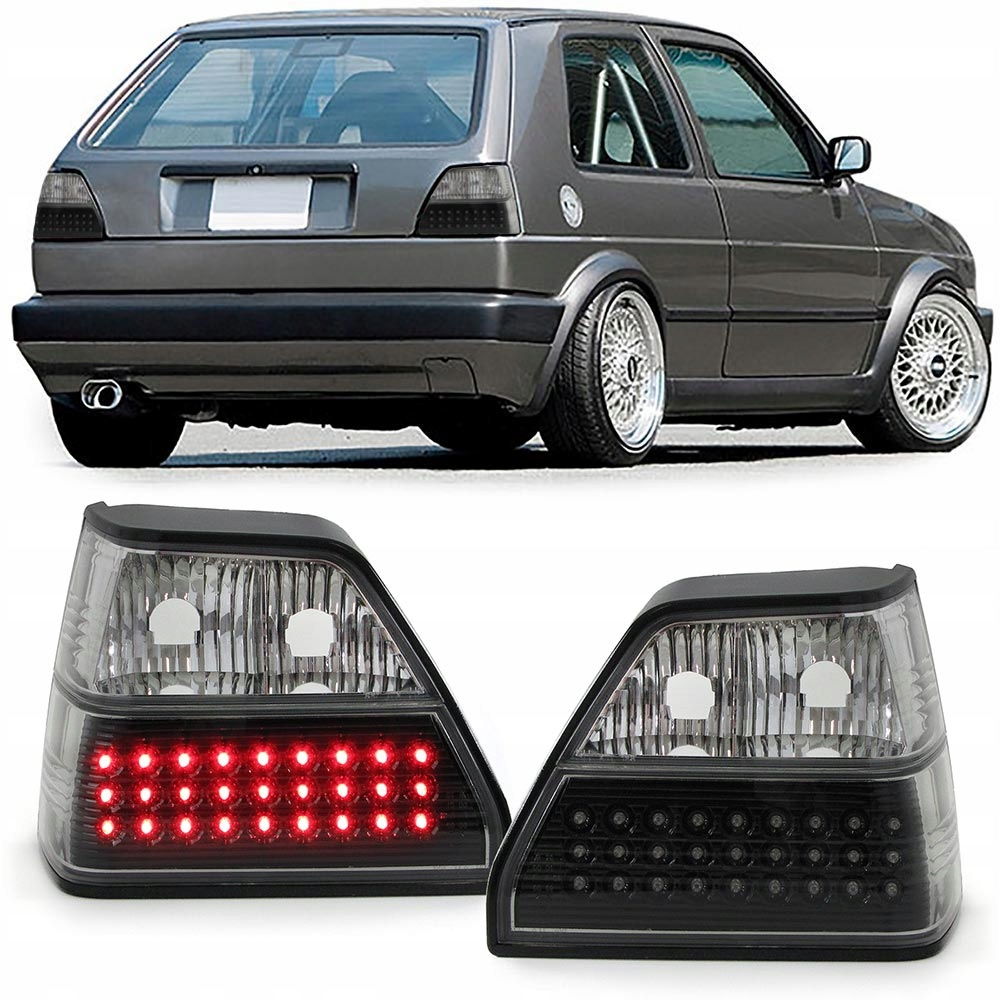 Lampy Tył Led Do Vw Golf 2 1983 1991 7655610860