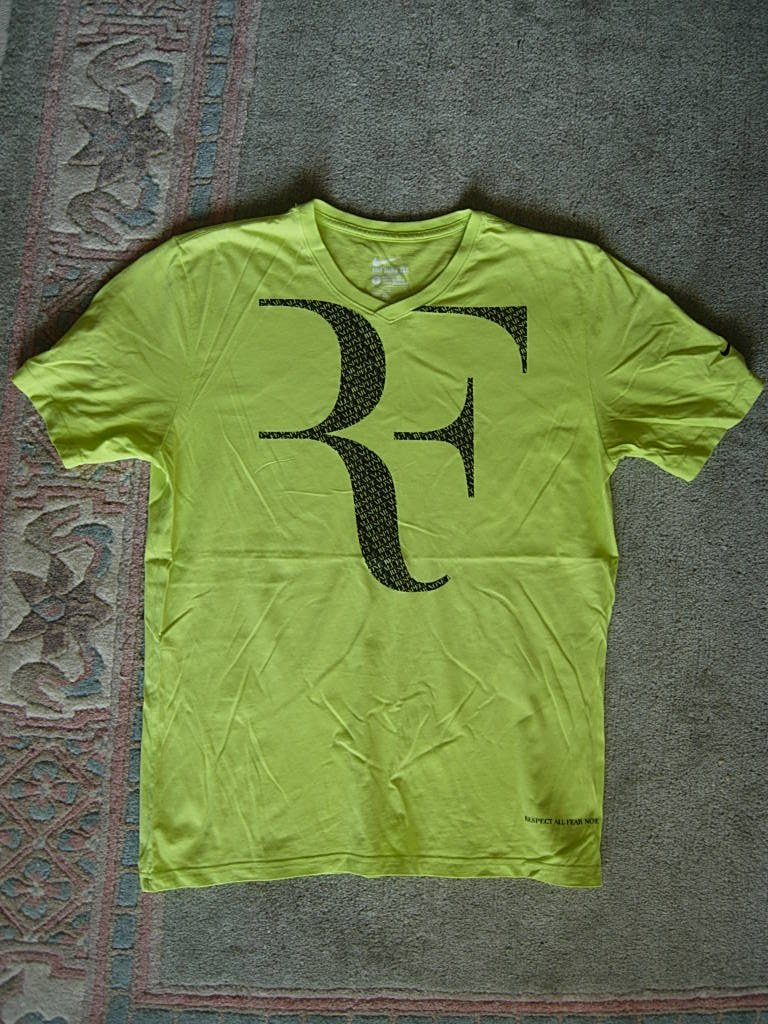 Koszulka tenis Nike FEDERER L logo RF stan bdb