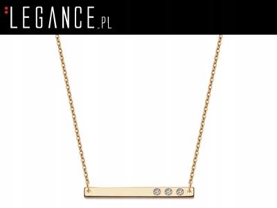 b195b2225e5e3c Złoty łańcuszek z blaszką VERONA (YES Biżuteria) - 7727599676 ...