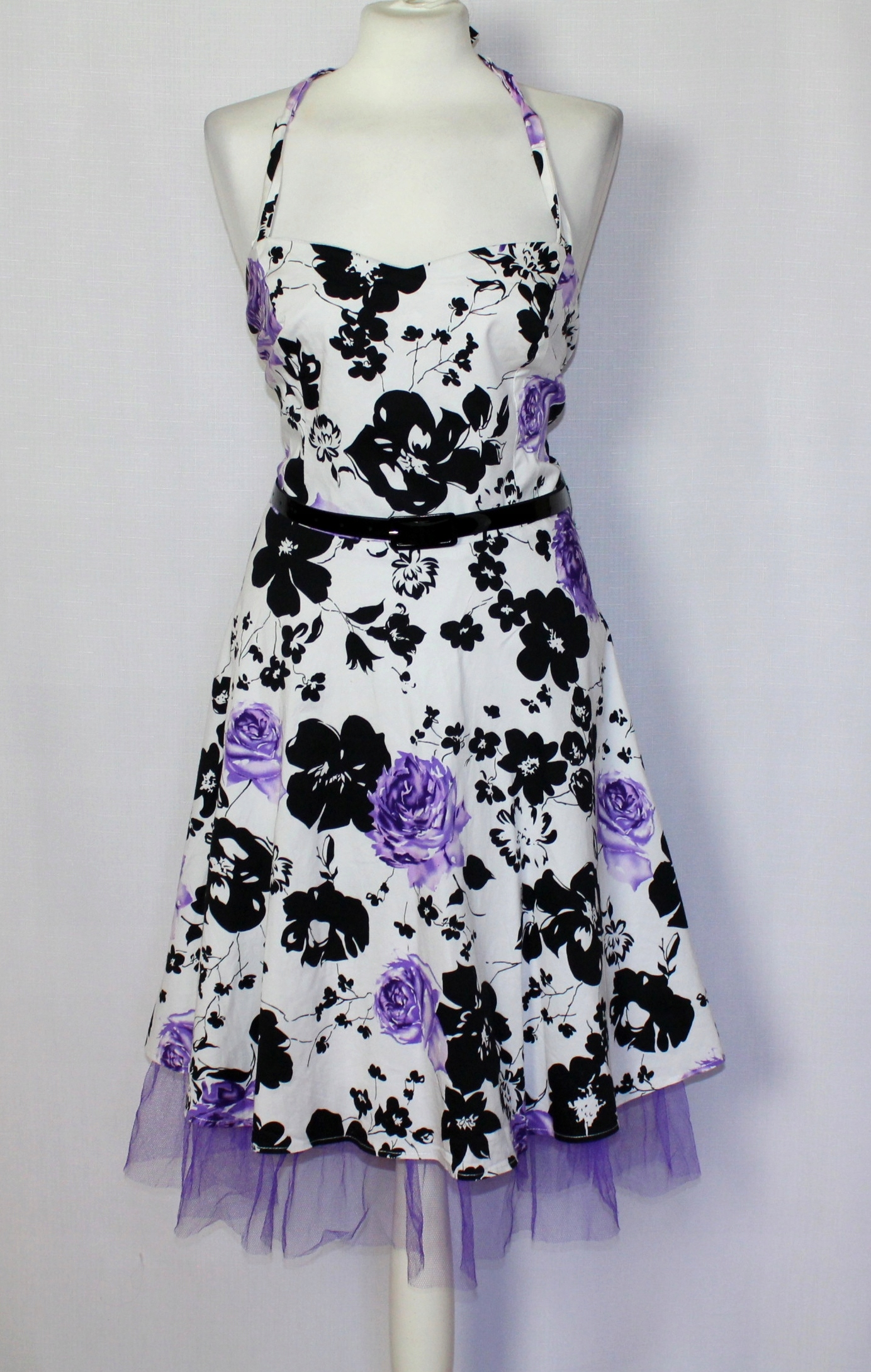 3c83519dcc Sukienka pin-up girl w kwiaty na szyję 46 18 3XL - 7448586900 ...