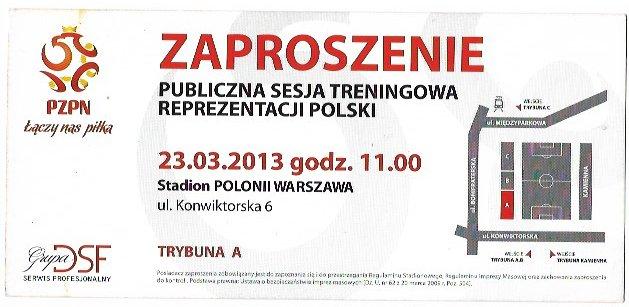Zaproszenie Na Trening Reprezentacji Polski 7306121931 Oficjalne