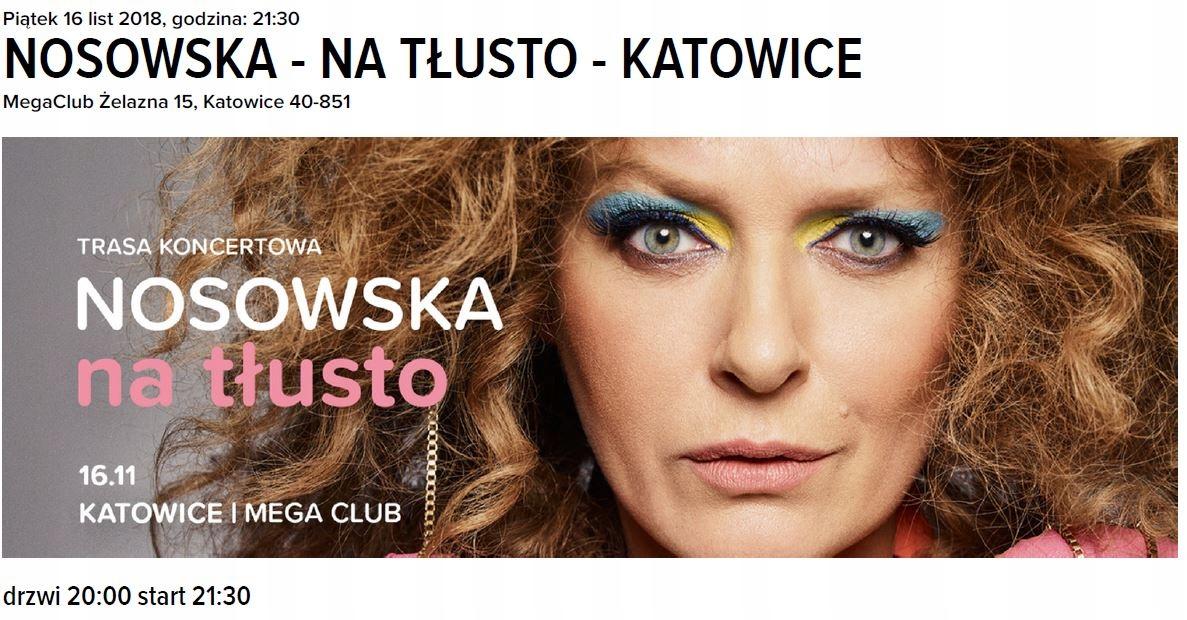 Nosowska na tłusto - koncert - Katowice 16.11.2018