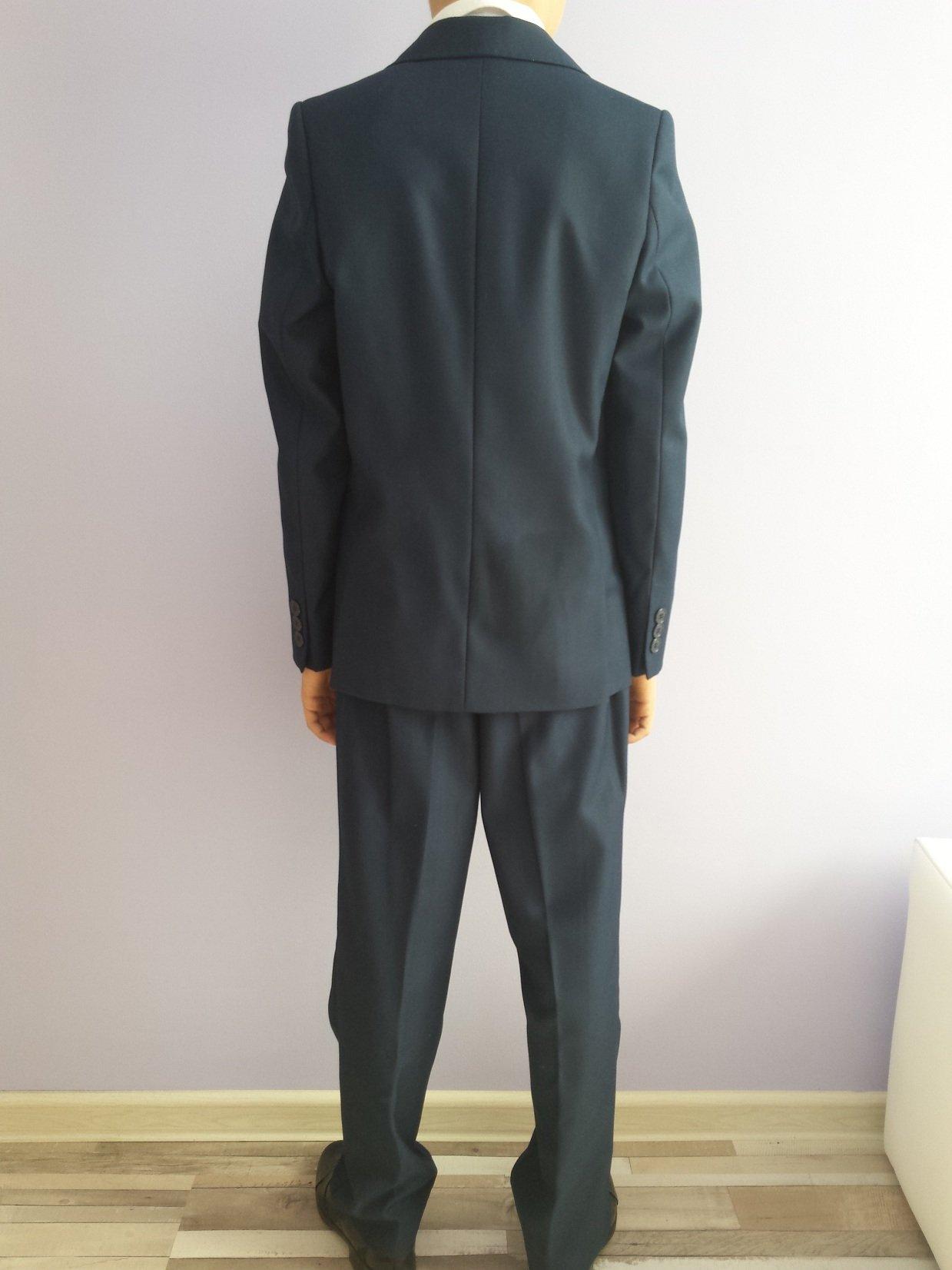 96adffdf1423e Garnitur chłopięcy 128 cm komplet +koszula+ buty - 7295075421 ...