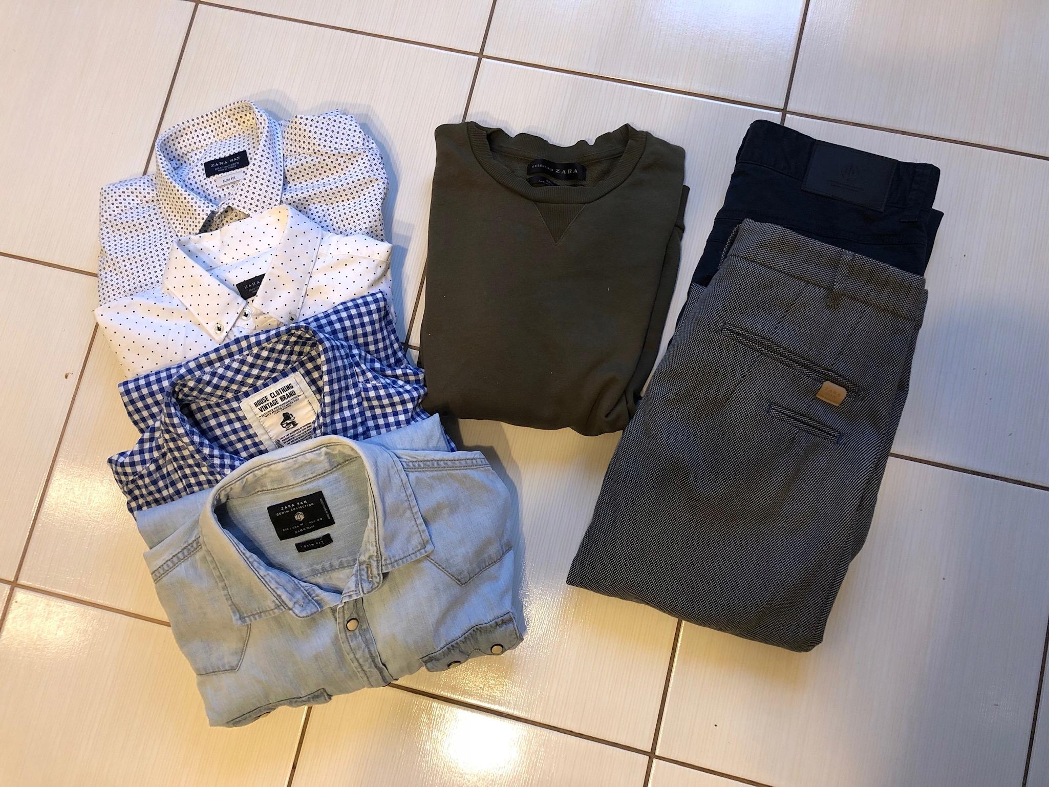 Zestaw świąteczny męskie ubrania jak nowe ZARA M