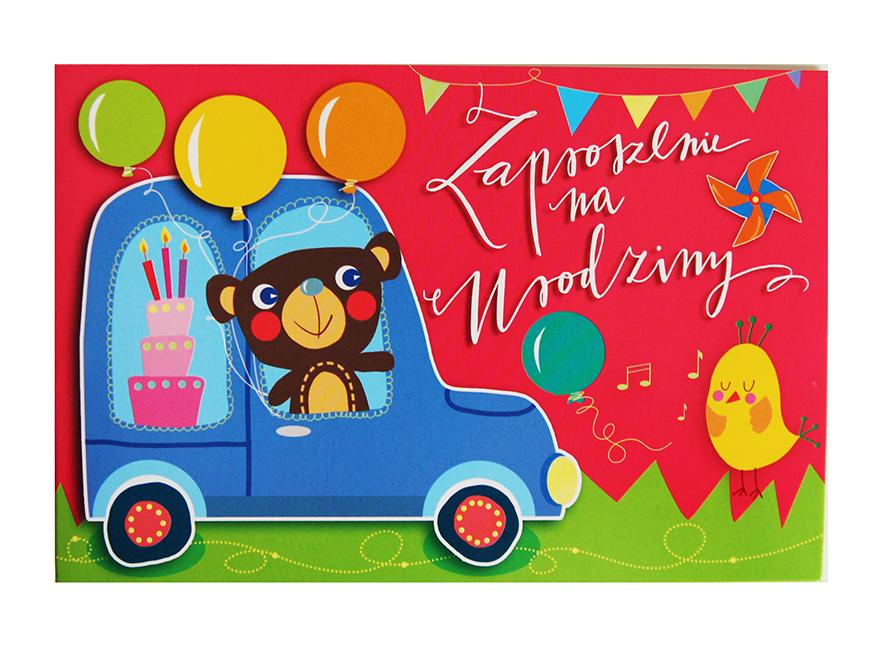 Zaproszenia Z Misiem Urodziny Dziecka 7270311730 Oficjalne