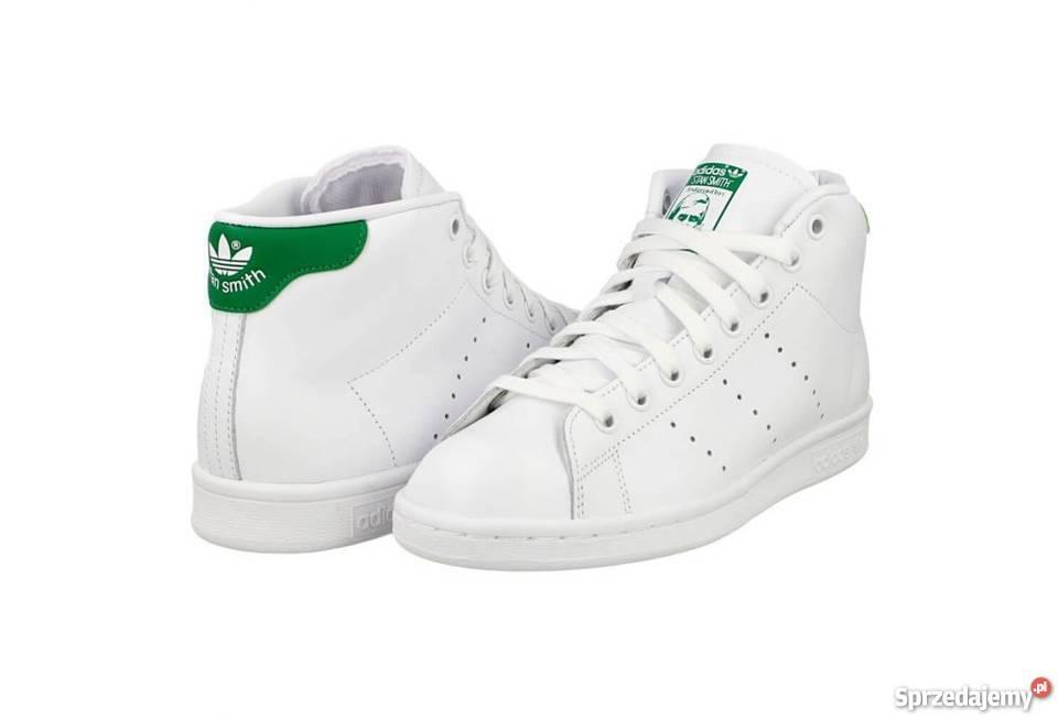 a1bbf70d Buty Adidas Stan Smith 38 wysokie biało zielone - 7305259578 ...