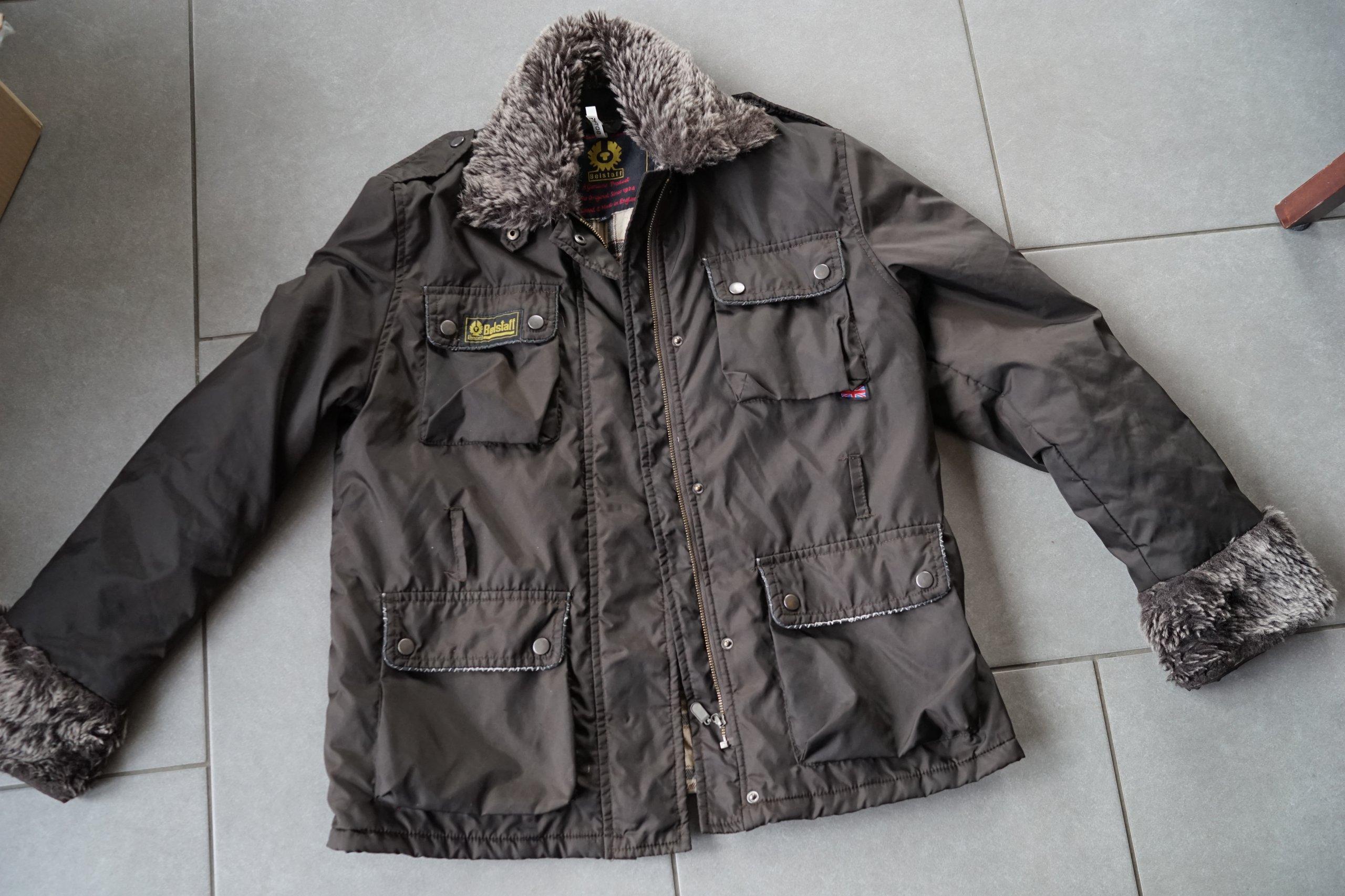 logowana Belstaff ciepła kurtka XL