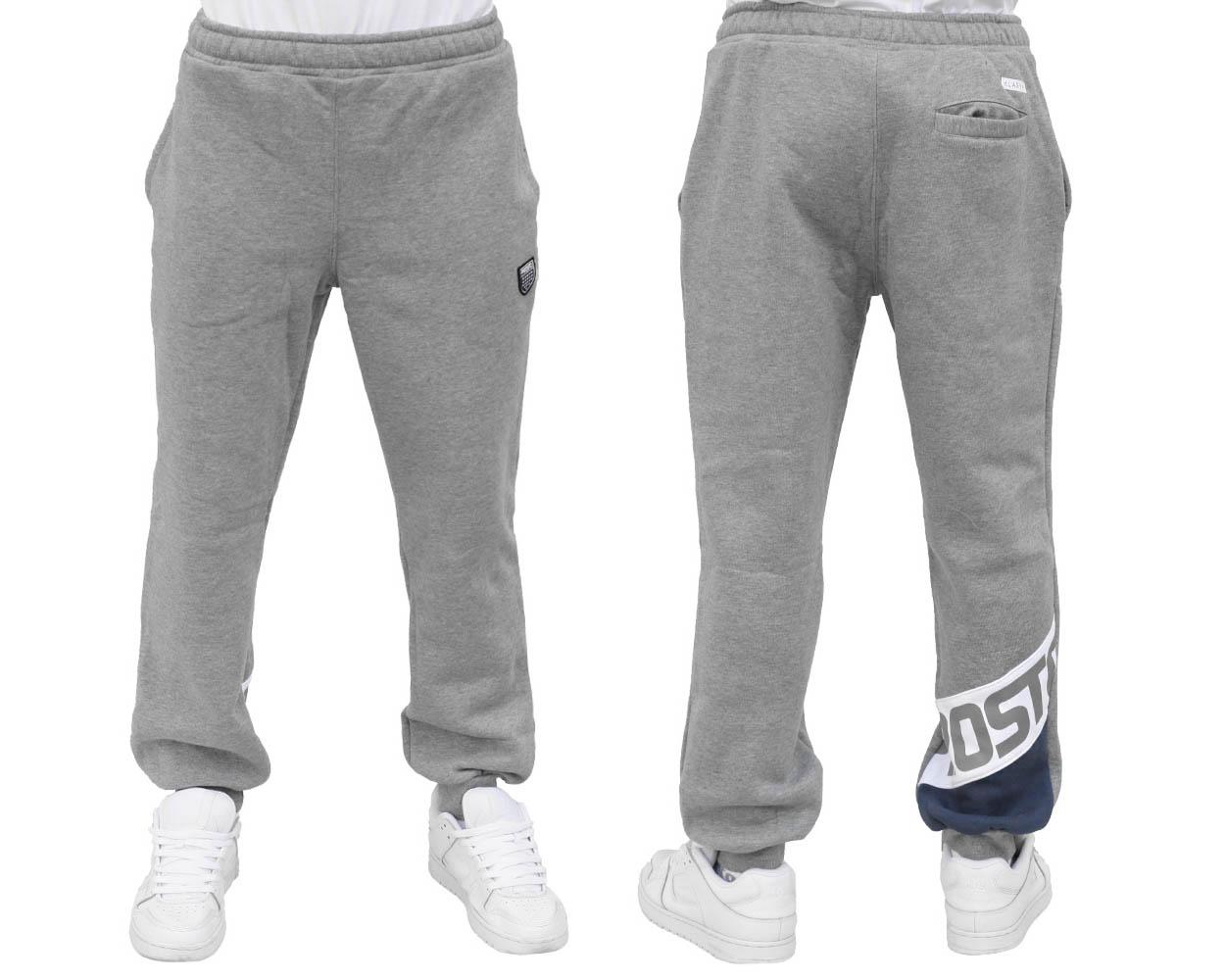 2fd2b21b0 Spodnie Dresowe PROSTO KLASYK Strip Szare L - 6950787175 - oficjalne ...