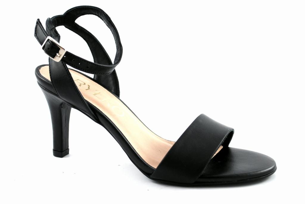 222f7ac901ba9 RYŁKO 7NFB5 sandały na szpilce czarne skóra R.38 - 7312882483 ...