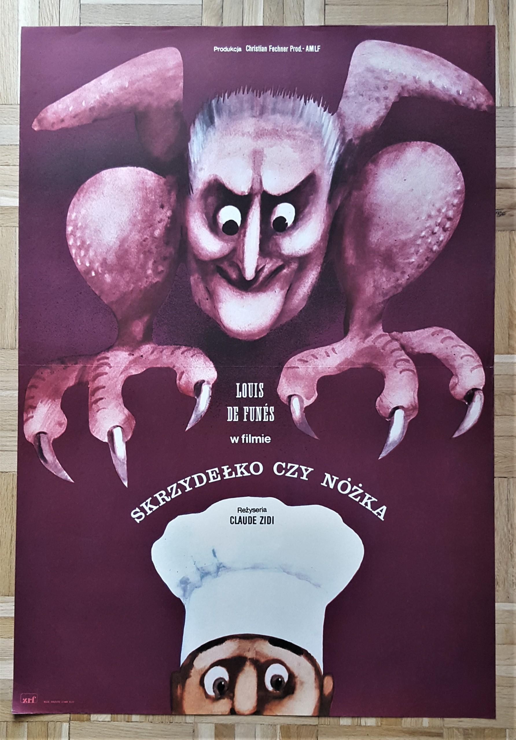 Plakat Filmowy Skrzydełko Czy Nóżka Górka 1978