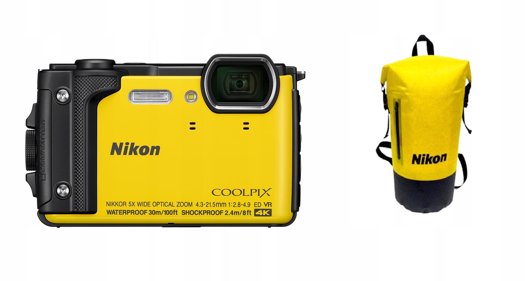 362ba46cc0725 Nikon Coolpix W300 żółty + Plecak PL VAT 23% - 7688515668 ...