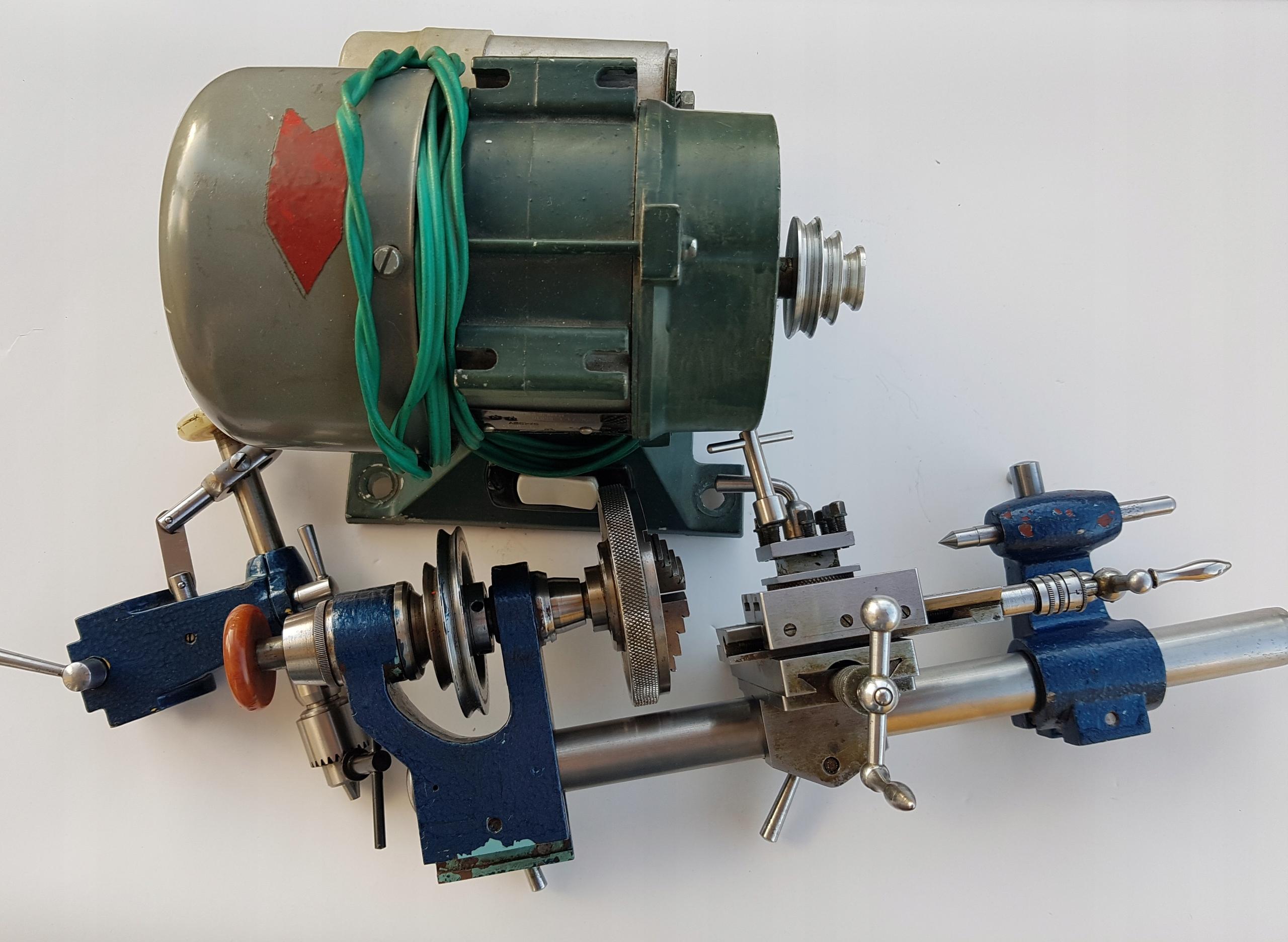 Tokarka zegarmistrzowska z silnikiem
