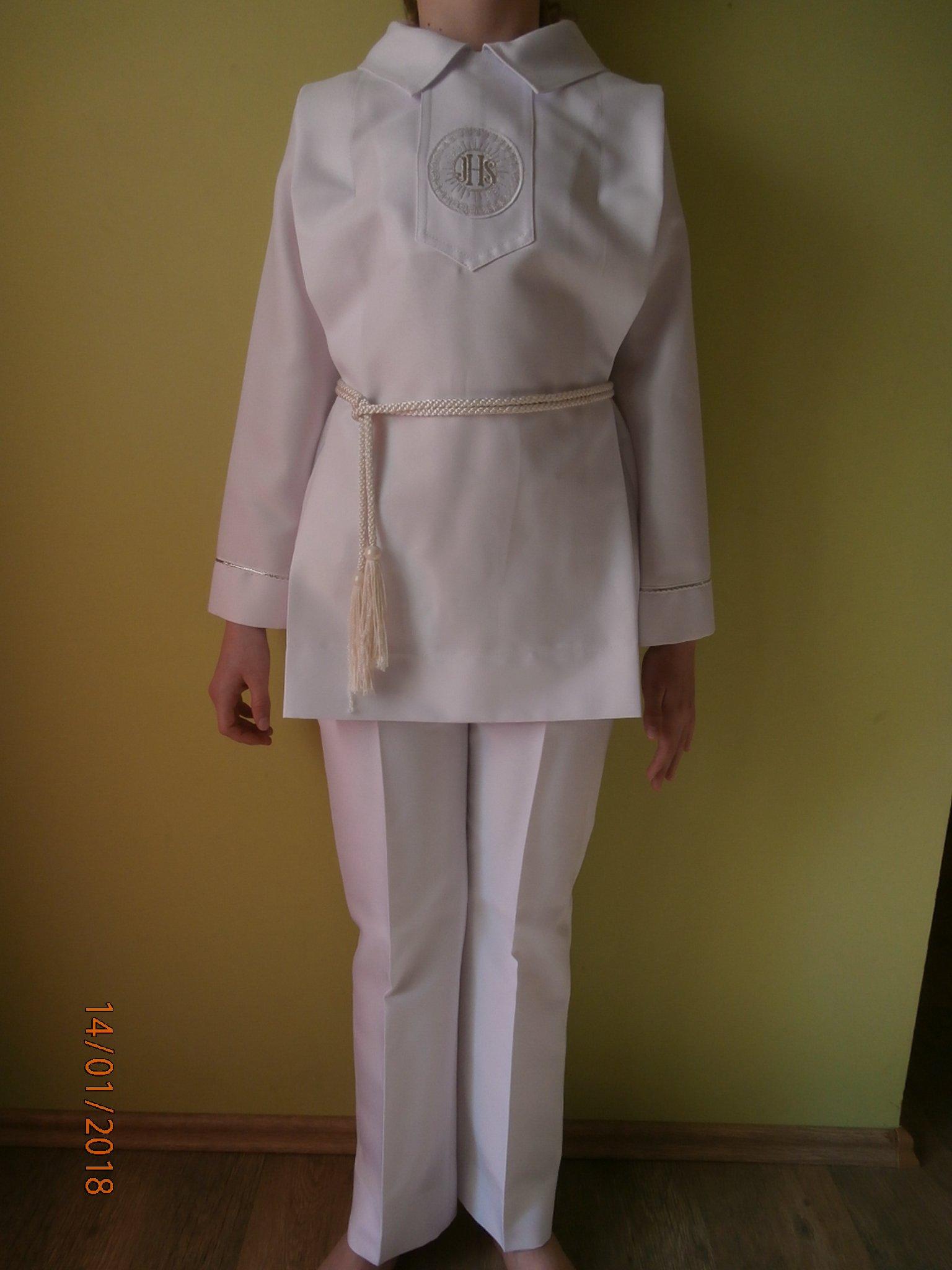 2ead40ab4a Alba komunijna + spodnie + rękawiczki - 7273470675 - oficjalne ...