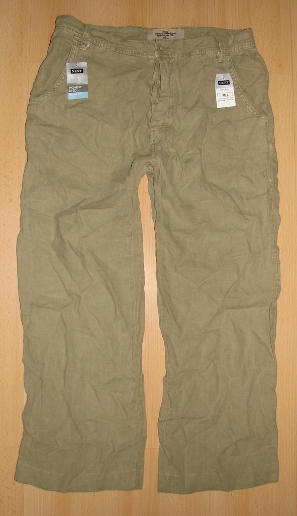 Spodnie męskie NEXT 36/30 len