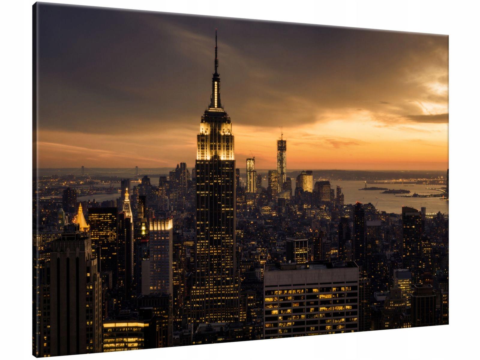 Obraz Miasto Nowy Jork o świcie 100x70 Foto obraz
