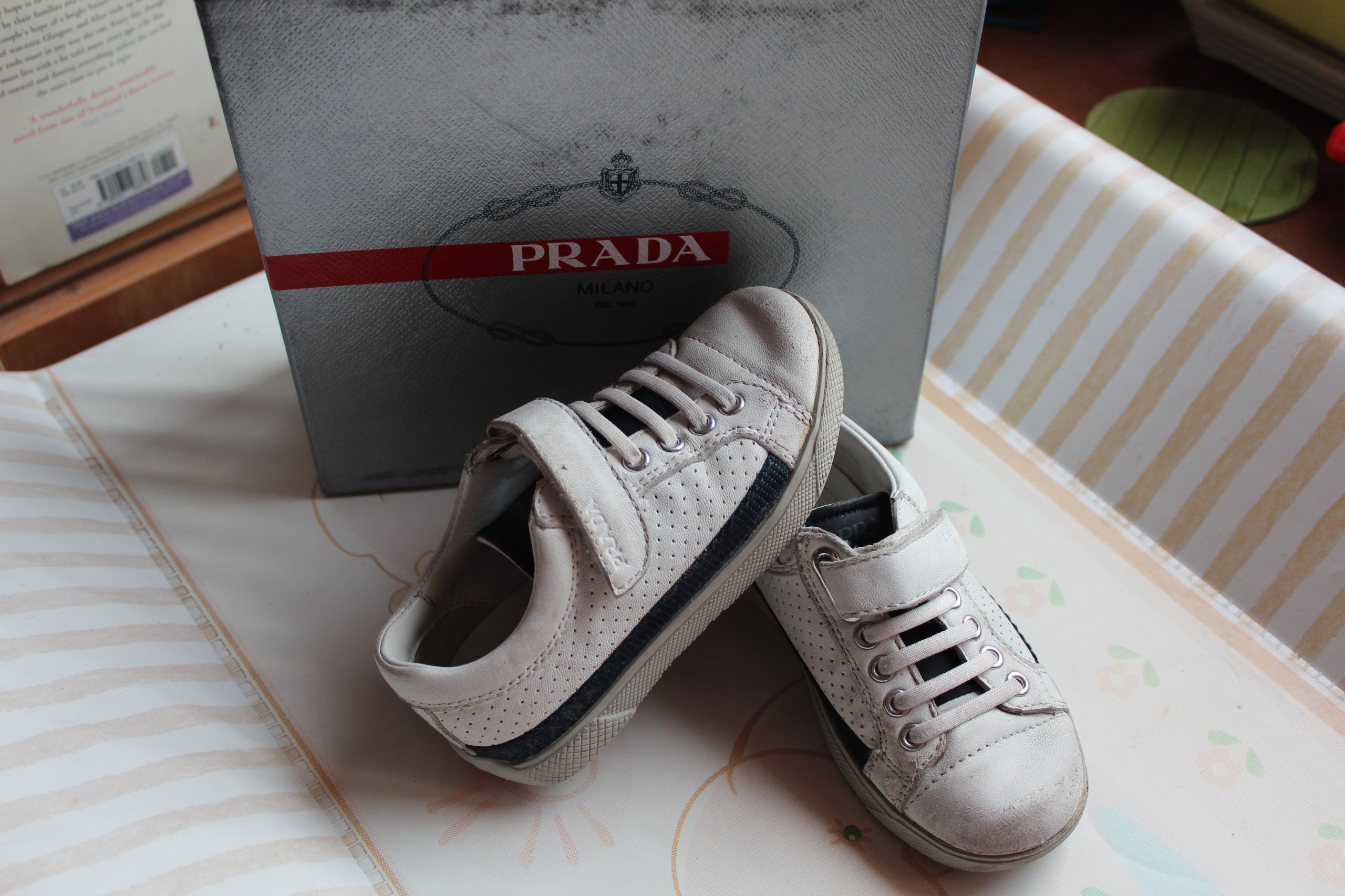 85f545247b53f PRADA półbuty adidasy pudełko skóra 24 15,5 - 16cm - 7295910709 ...