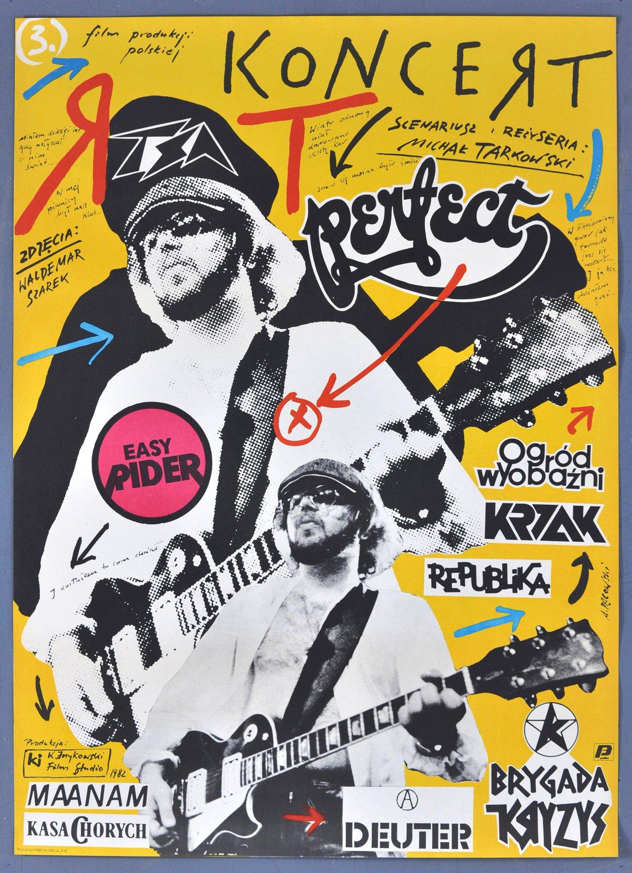 Plakat Kinowy Koncert Perfect Pągowski 1982