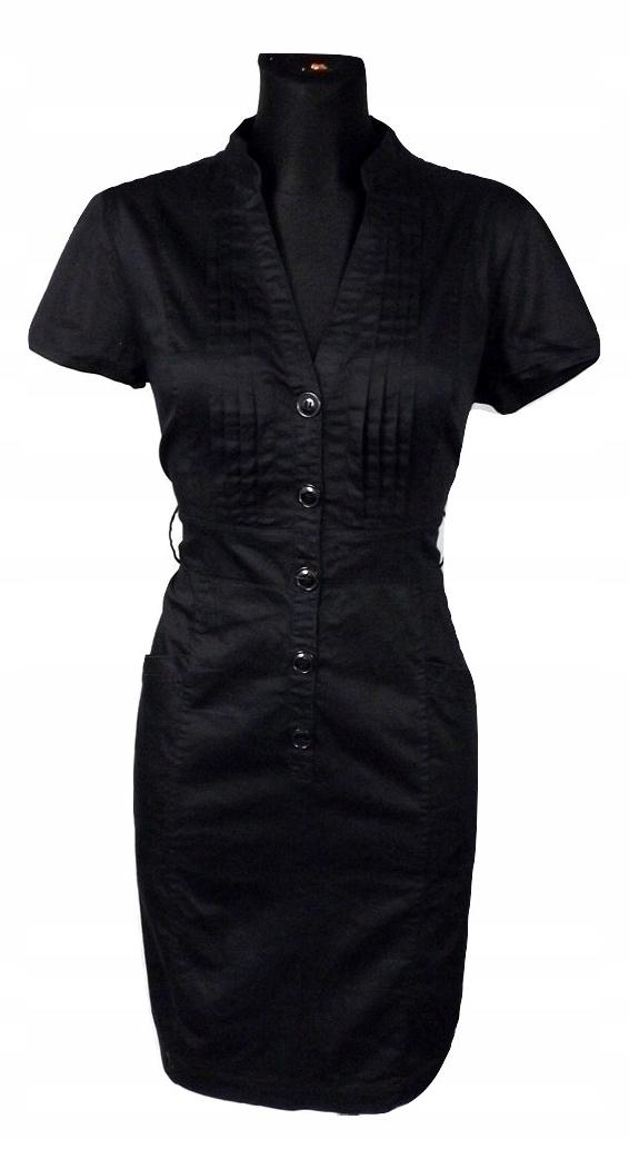 6b5be20de2 H M czarna sukienka szmizjerka military 42 - 7730774265 - oficjalne ...