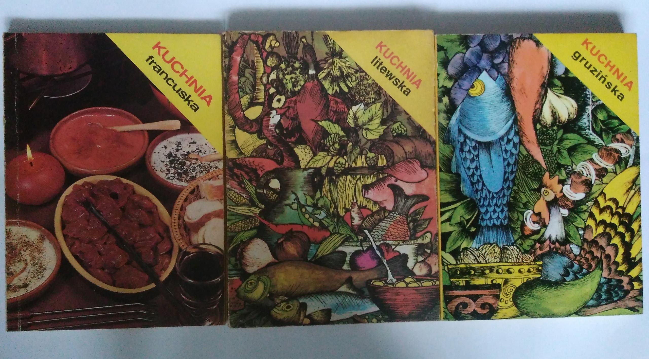 Kuchnia Francuska Litewska Gruzińska 3 Książki