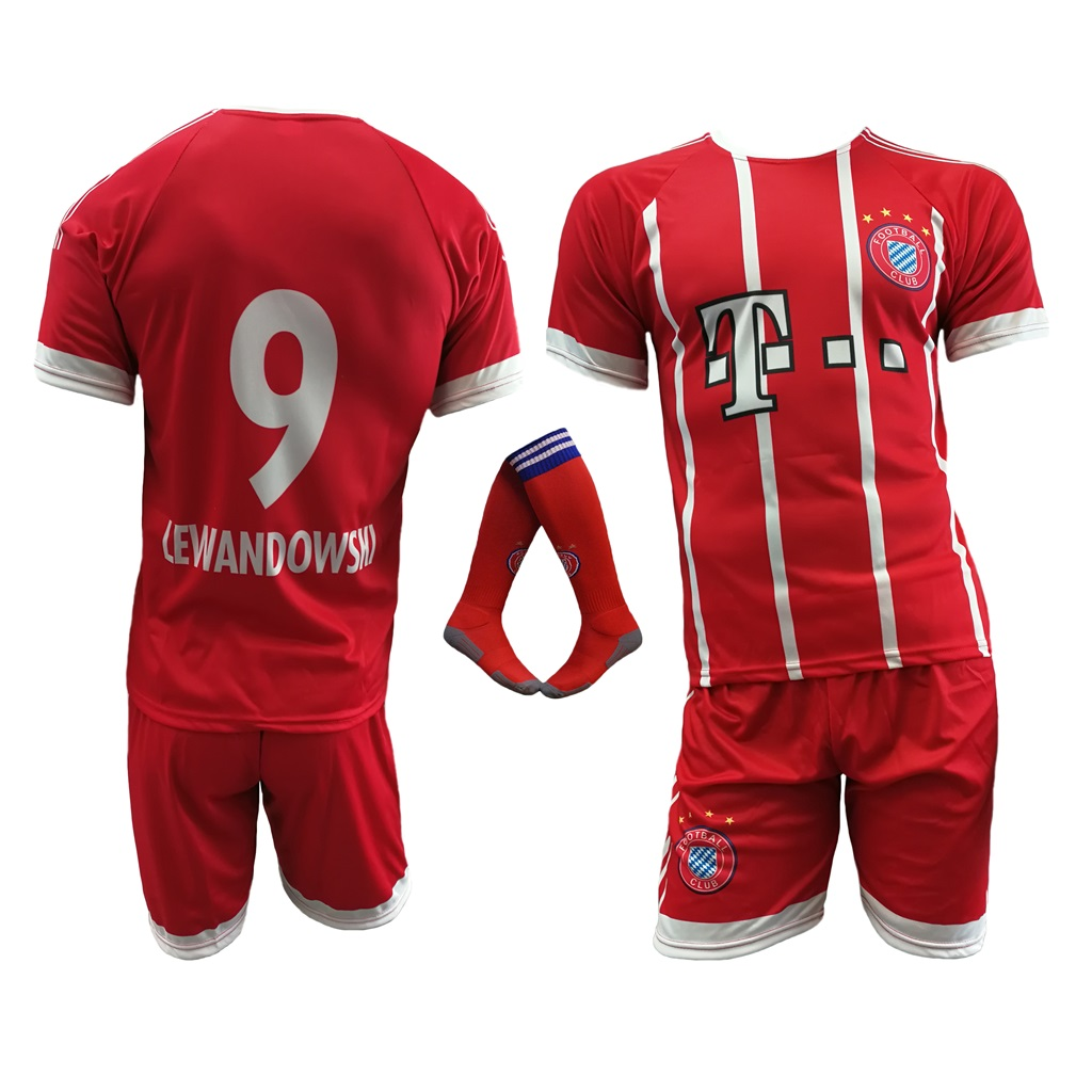 b3a430d2c Komplet piłkarski Reda Lewandowski Bayern - r140. KOMPLET LEWANDOWSKI BAYERN  + GETRY Rozmiar XXL