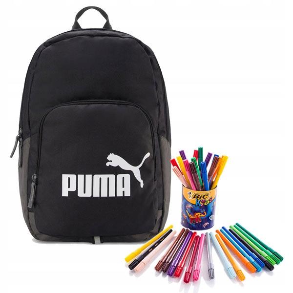 cf58ee842b172 Czarny Szkolny Plecak Puma Phase ZESTAW taniej! - 6944405968 ...