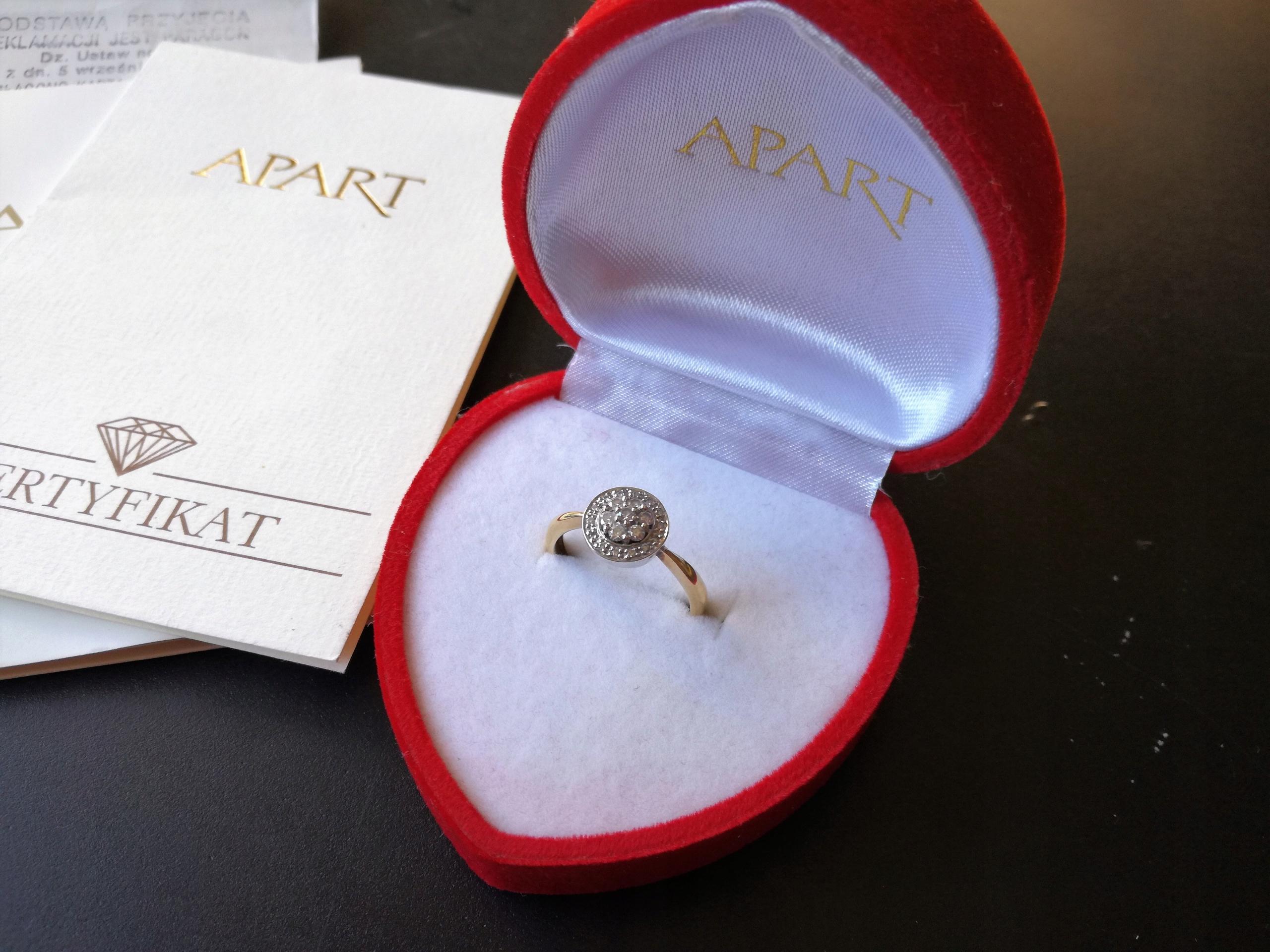 Wszystkie nowe Sprzedam pierścionek zaręczynowy Apart diamenty - 7498050906 KN74