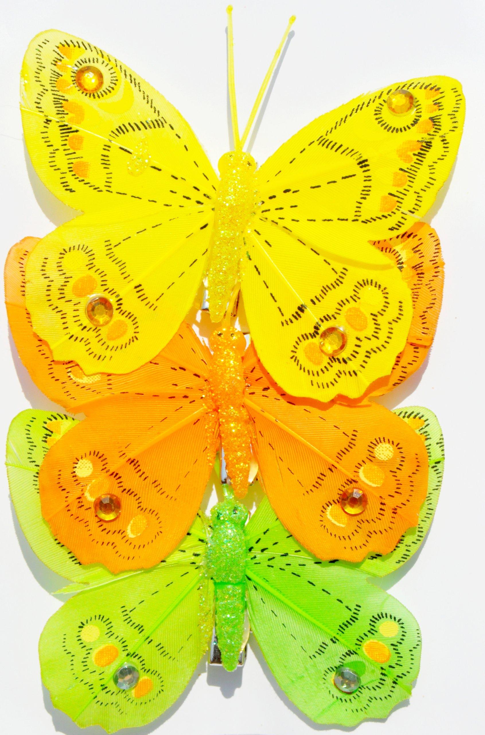 Motyle Motylki Ozdobne Przypinane 3d 3 Szt 8 Cm