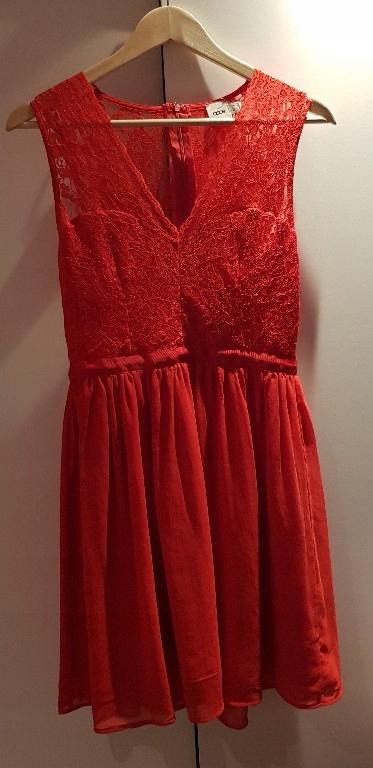 113cda7317 czerwona sukienka ASOS koronka rozmiar 38 - 7684597920 - oficjalne ...