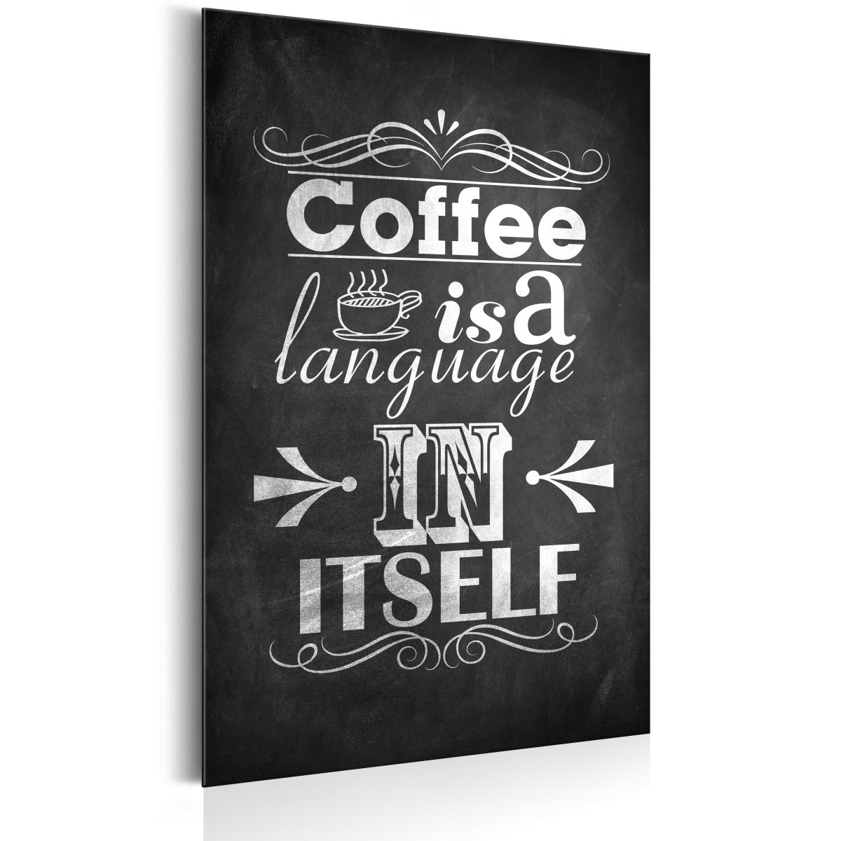 Plakat Metalowy Język Kawy Allplate Rozmiar