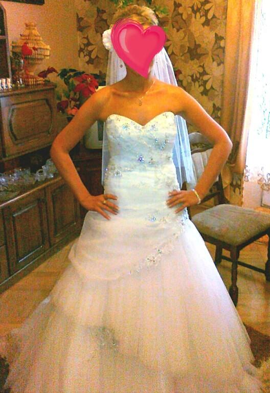 Suknia ślubna Kryształki Swarovskiego 3638 7460217984 Oficjalne