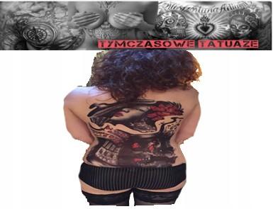 Tatuaż Na Całe Plecy 48cm X 34cm Duży Demon Girl