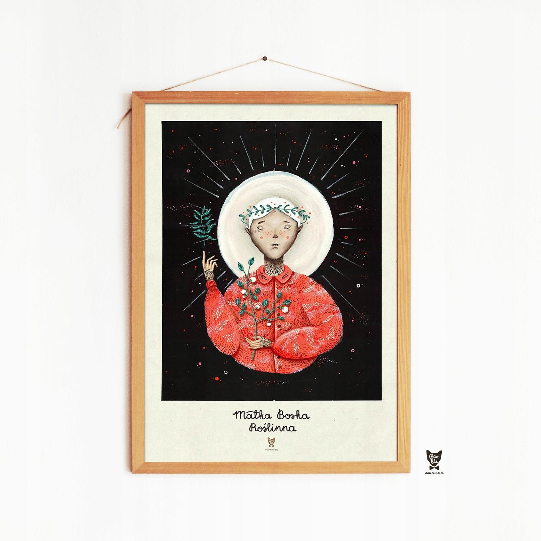 Plakat Matka Boska Roslinna Pan Lis Design Ddz
