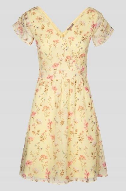 bab318e78d ORSAY - zwiewna żółta sukienka w kwiaty - 38 - 7554975442 ...