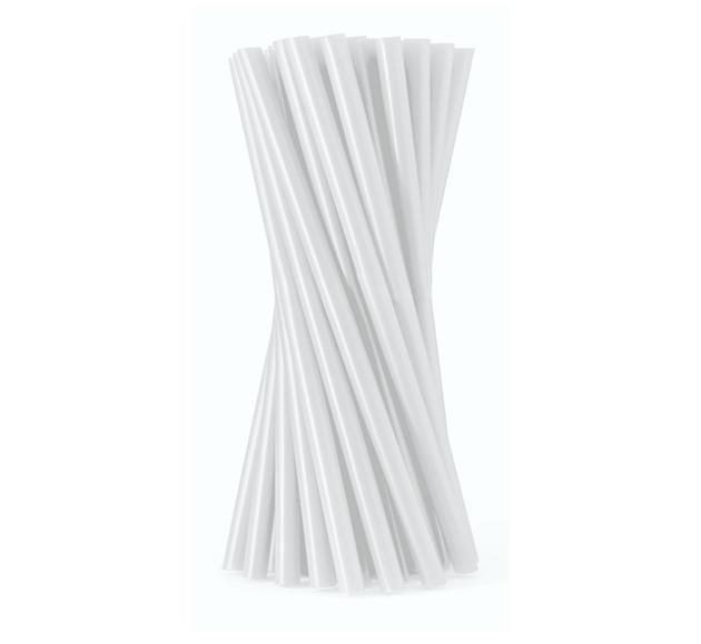 Rurki (słomki) proste białe 8x100mm 80 szt.