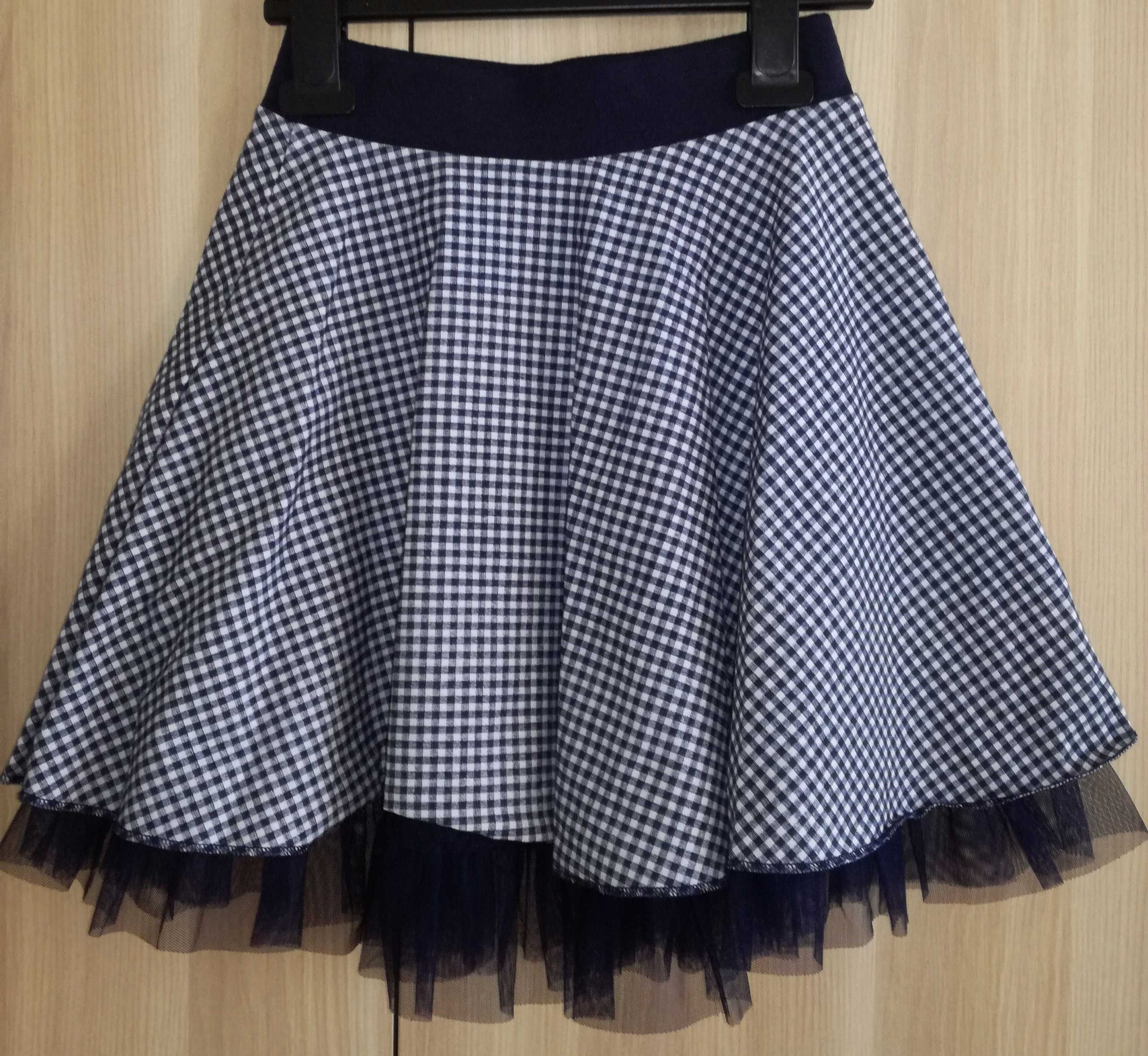 b63ceb70 GRANATOWA spódnica spódniczka jak NOWA r.134/140 - 7369046825 ...