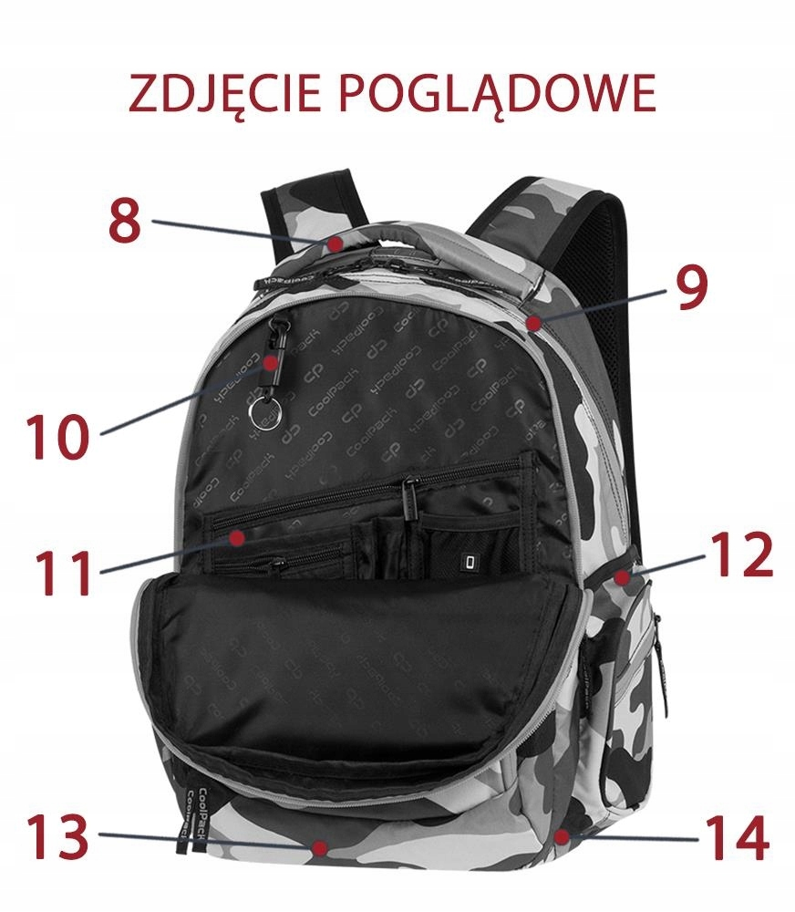 Coolpack Break Camouflage Lime 88909CP nr A347 7459312767