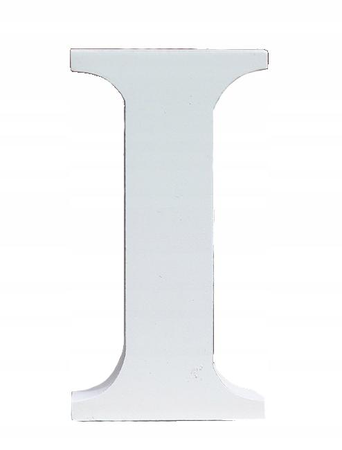 Duża Litera I Stojąca 3d Biała 18 Cm 7022502270 Oficjalne