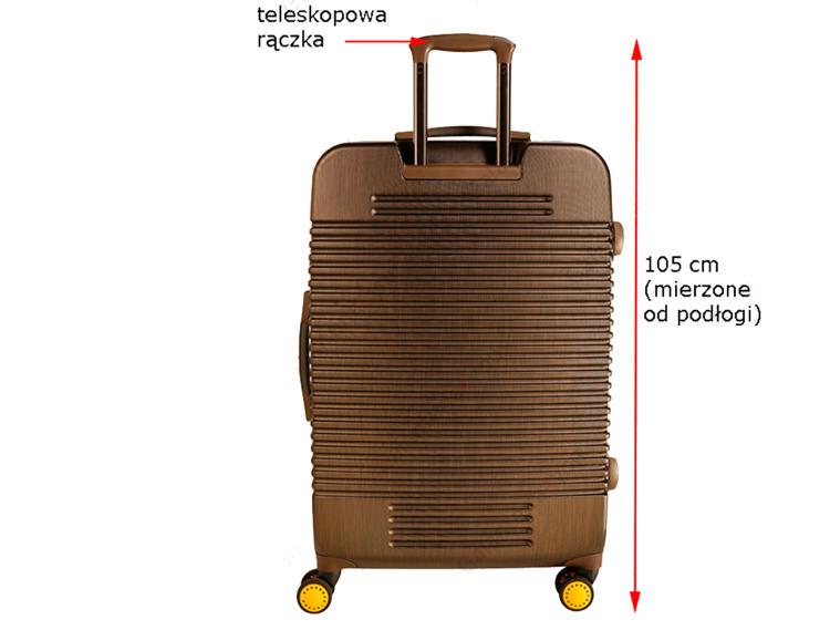 c932b4fa5856f VIP walizka BRĄZ duża teleskopowa rączka GWARANCJA - 7352921875 ...