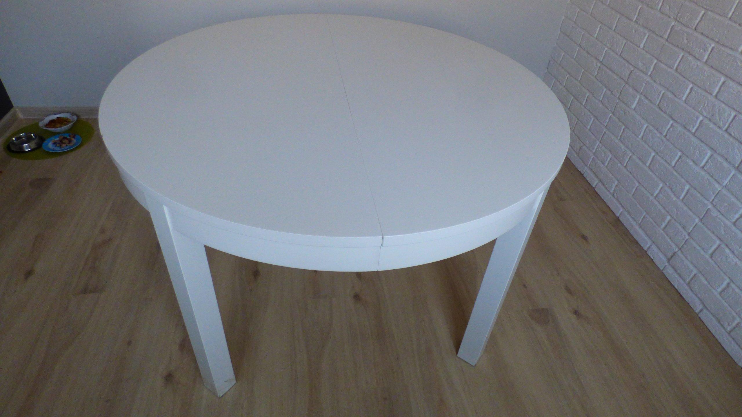 Stol Rozkladany Ikea Bjursta Bialy 7241860857 Oficjalne Archiwum